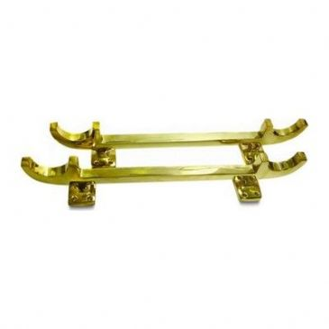 POLE & PLANK HOLDER BRASS PAIR